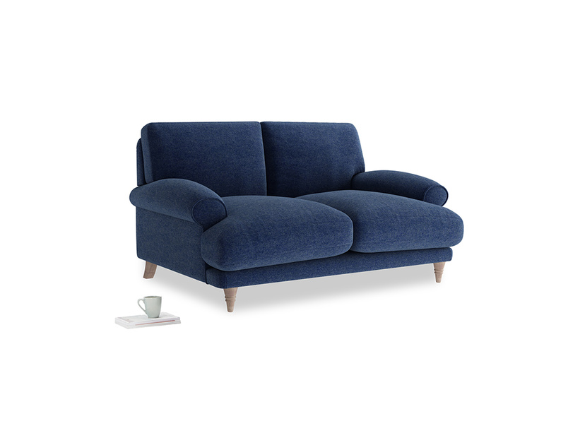 Small Slowcoach Sofa in Ink Blue wool