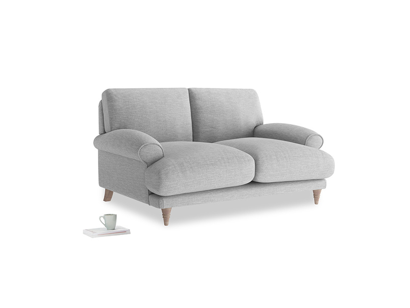 Small Slowcoach Sofa in Mist cotton mix
