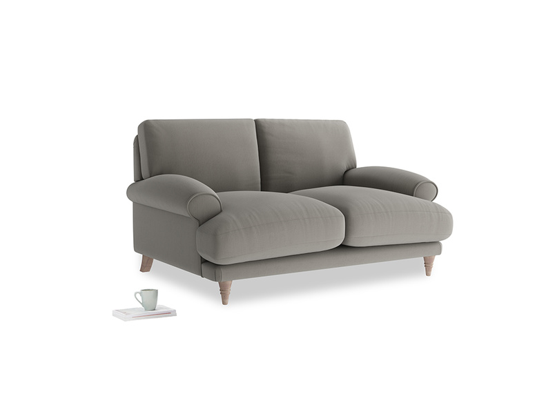 Small Slowcoach Sofa in Monsoon grey clever cotton