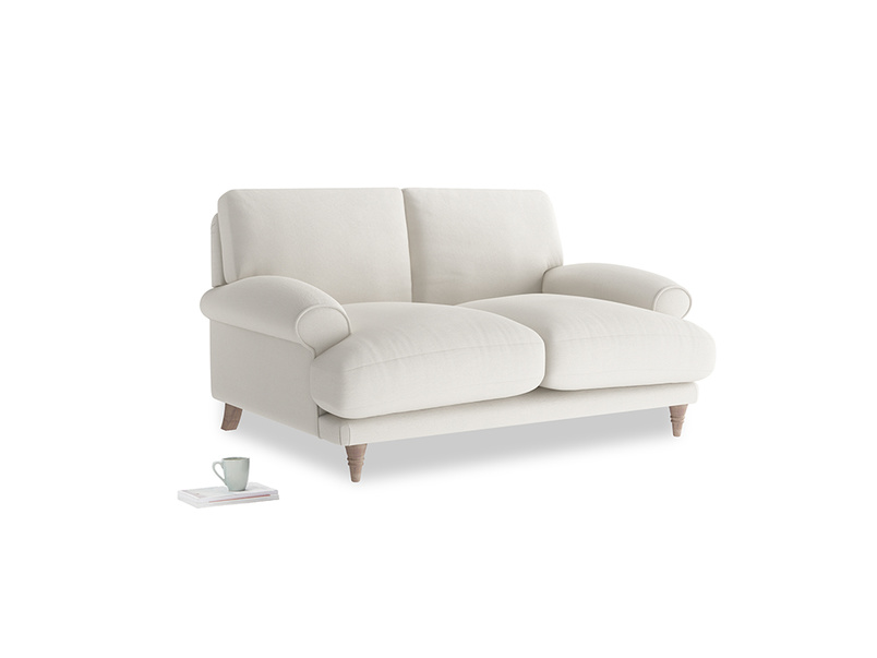 Small Slowcoach Sofa in Oyster white clever linen