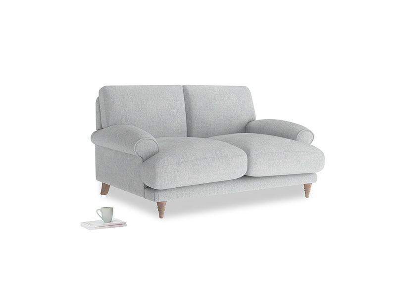 Small Slowcoach Sofa in Pebble vintage linen