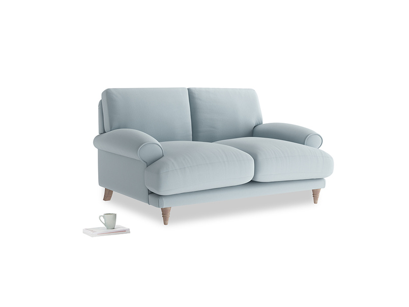 Small Slowcoach Sofa in Scandi blue clever cotton