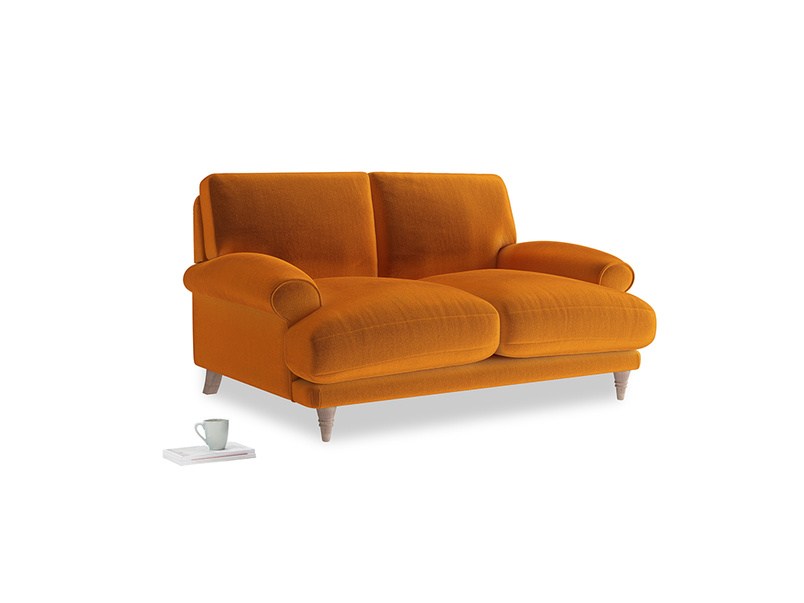 Small Slowcoach Sofa in Spiced Orange clever velvet