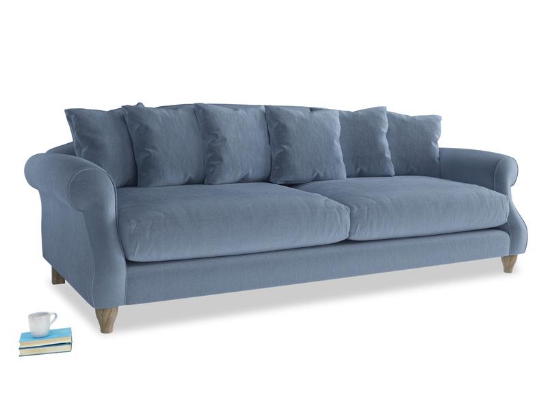 Extra large Sloucher Sofa in Winter Sky clever velvet