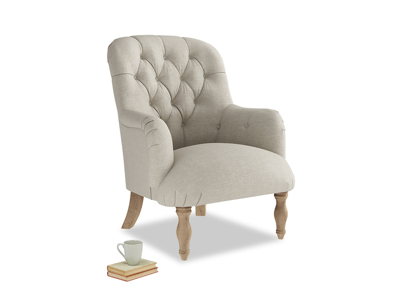 Flump occasional bedroom high back and button back chair