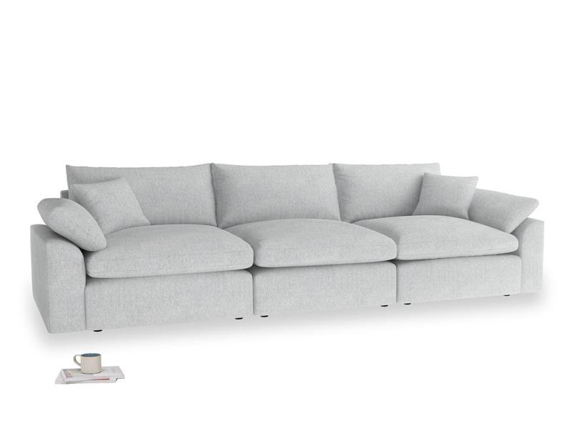 Large Cuddlemuffin Modular sofa in Pebble vintage linen