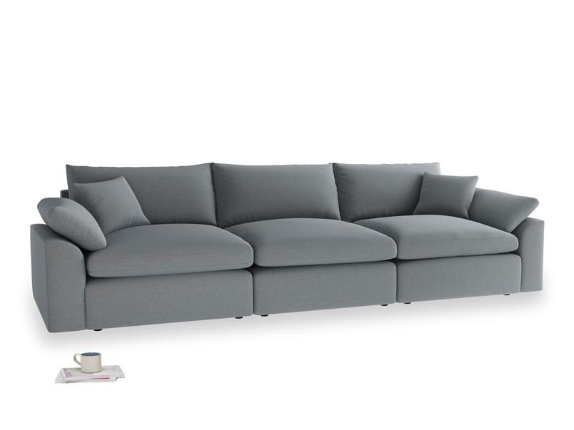 Large Cuddlemuffin Modular sofa in Dusk vintage linen