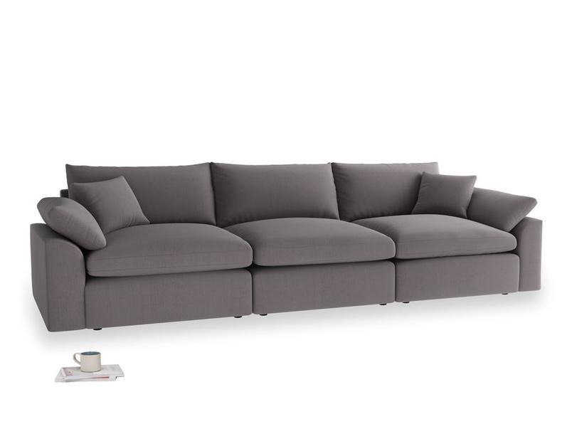 Large Cuddlemuffin Modular sofa in Graphite grey clever cotton