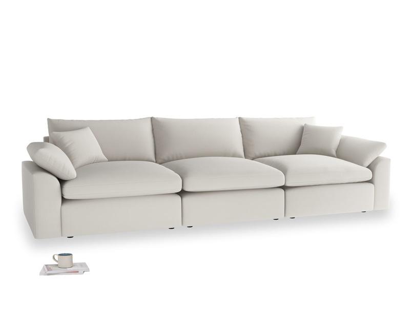 Large Cuddlemuffin Modular sofa in Moondust grey clever cotton
