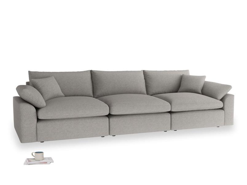Large Cuddlemuffin Modular sofa in Marl grey clever woolly fabric