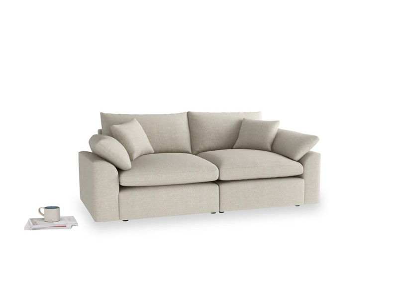 Medium Cuddlemuffin Modular sofa in Thatch house fabric