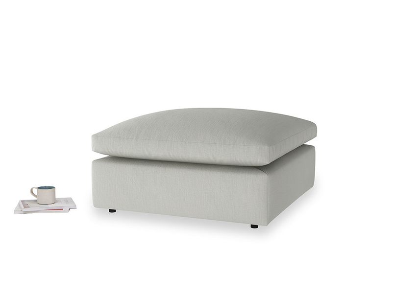 Cuddlemuffin Footstool in Mineral grey clever linen