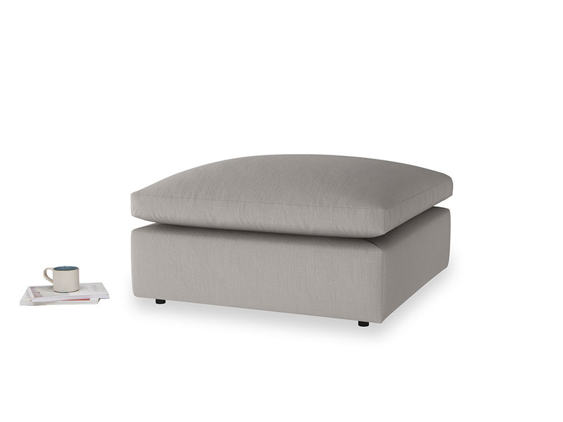 Cuddlemuffin Footstool in Safe grey clever linen