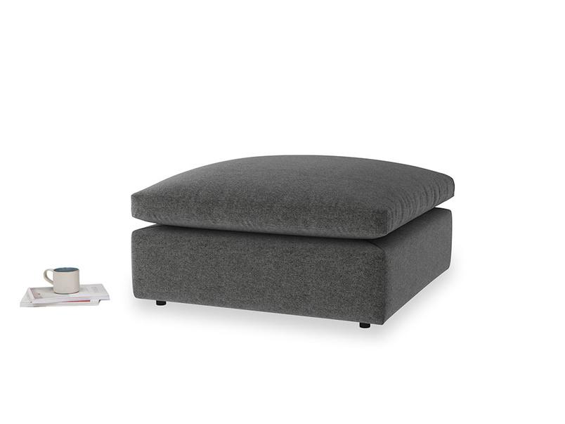 Cuddlemuffin Footstool in Shadow Grey wool
