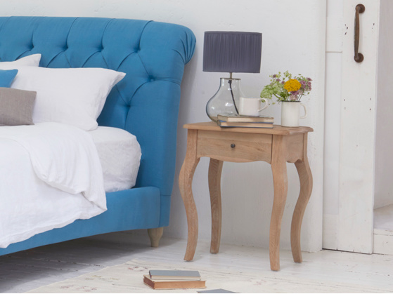 Mimi reclaimed wooden bedside table