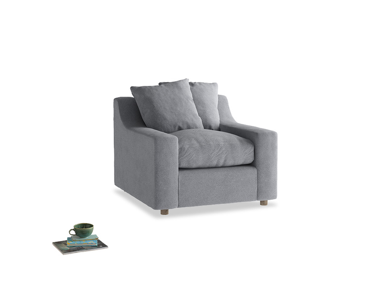 Cloud Armchair in Dove grey wool