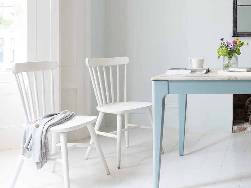 Natterbox wooden dining chair in Calm White