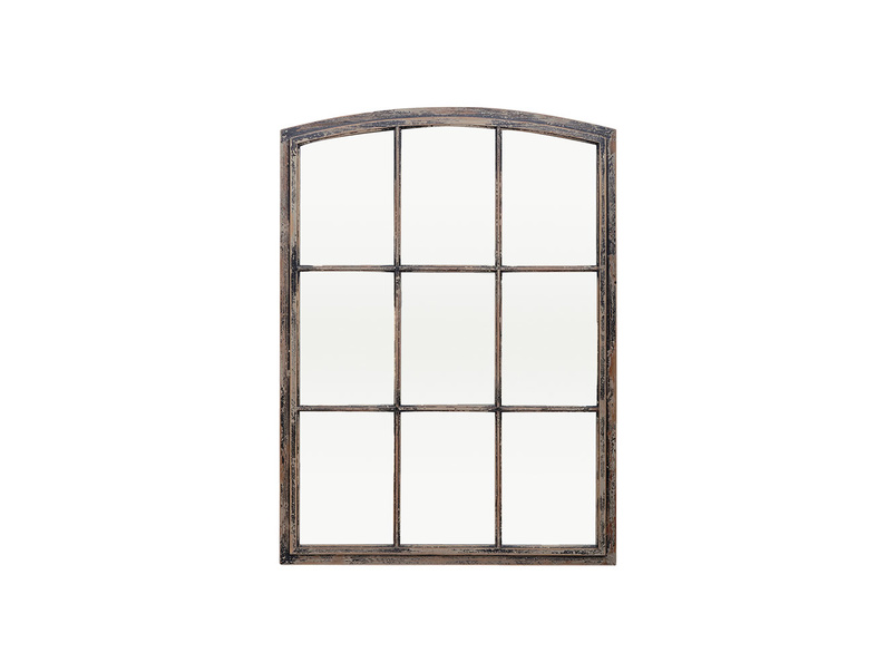 Kempton window pane wall mirror