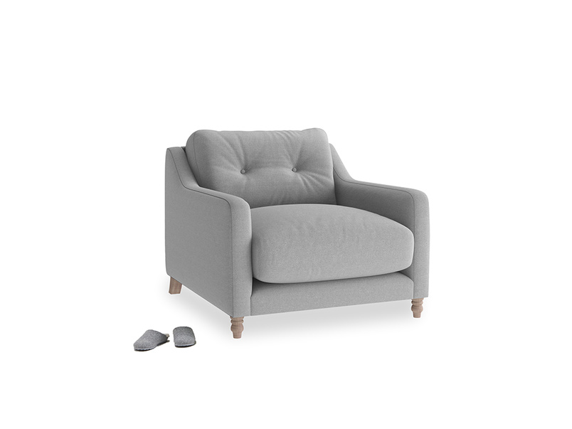 Slim Jim Armchair in Magnesium washed cotton linen