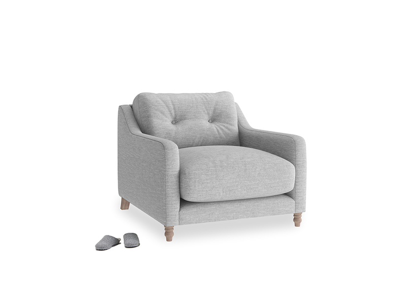 Slim Jim Armchair in Mist cotton mix