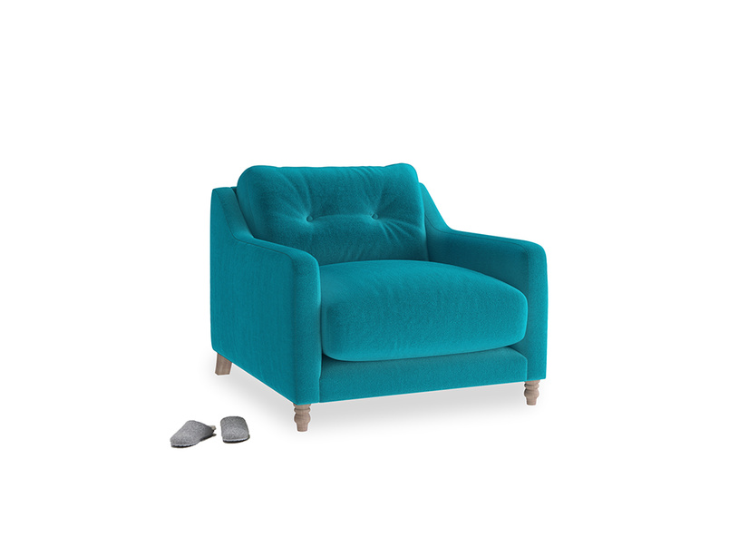 Slim Jim Armchair in Pacific Clever Velvet