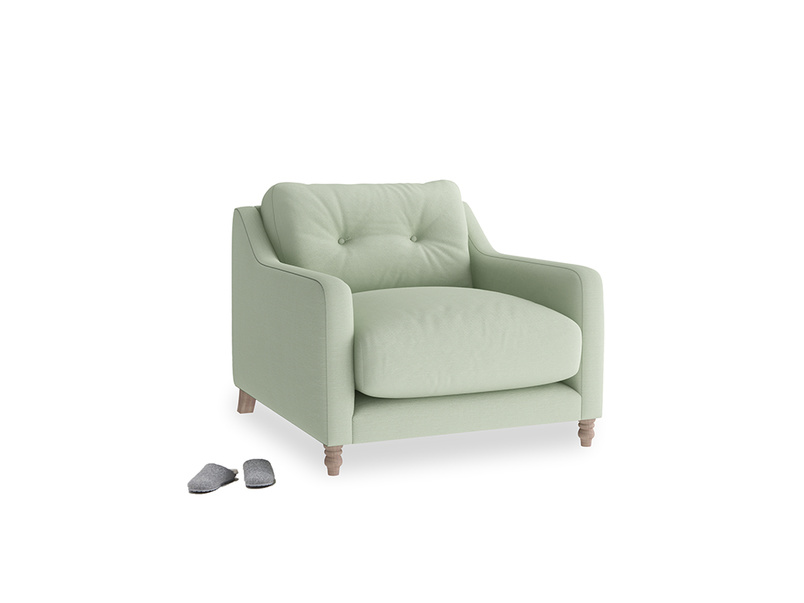 Slim Jim Armchair in Powder green Clever Linen