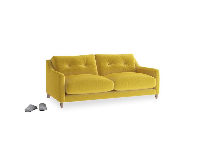 Small Slim Jim Sofa in Bumblebee clever velvet