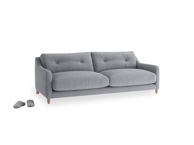 Medium Slim Jim Sofa in Dove grey wool