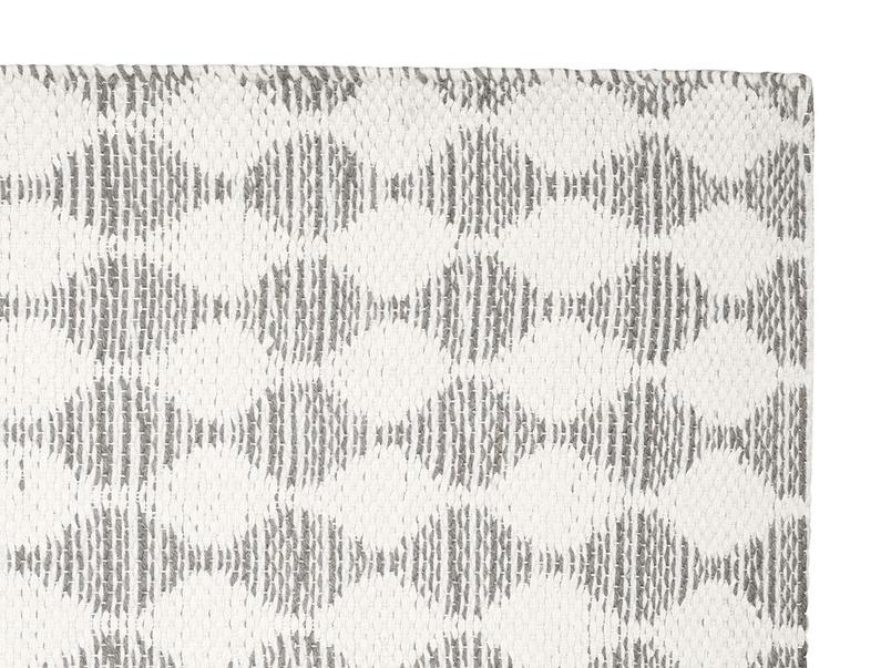 Waves woven floor rug in Grey