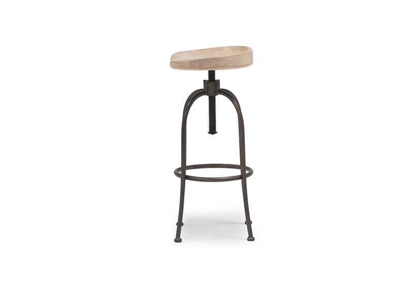 Tractor adjustable kitchen stool