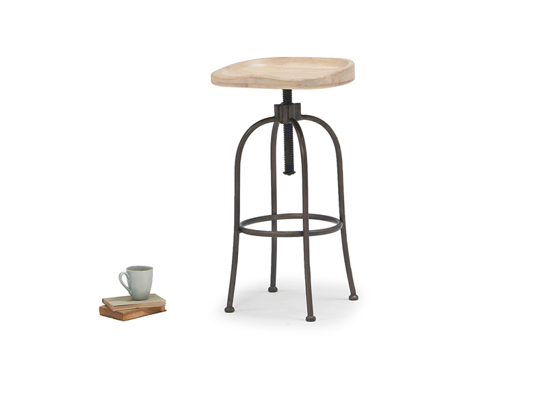 Tractor wooden bar stool