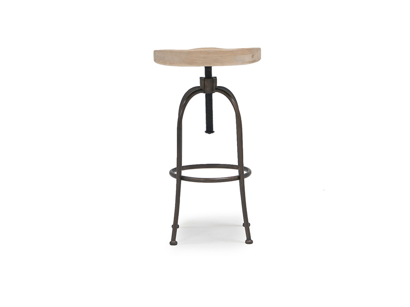 Tractor adjustable bar stool
