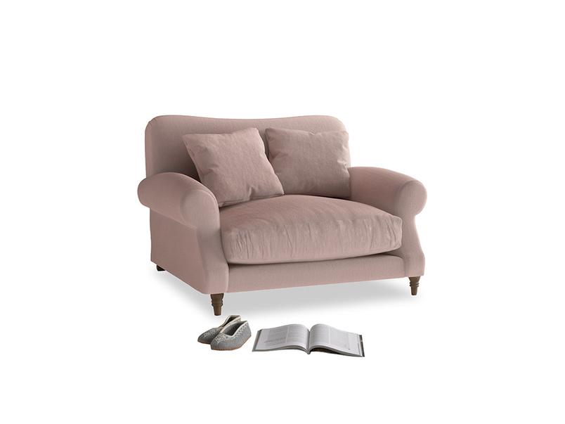 Crumpet Love seat in Rose quartz Clever Deep Velvet