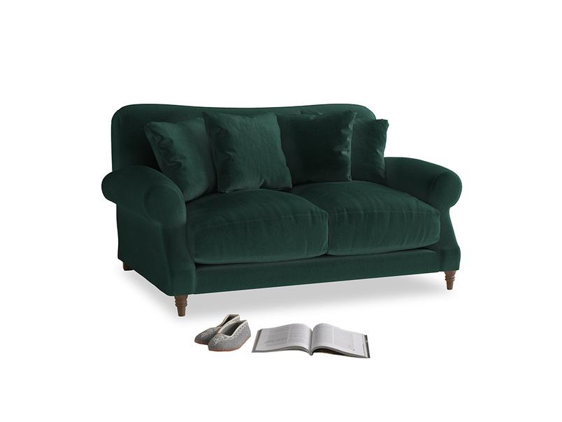 Small Crumpet Sofa in Dark green Clever Velvet