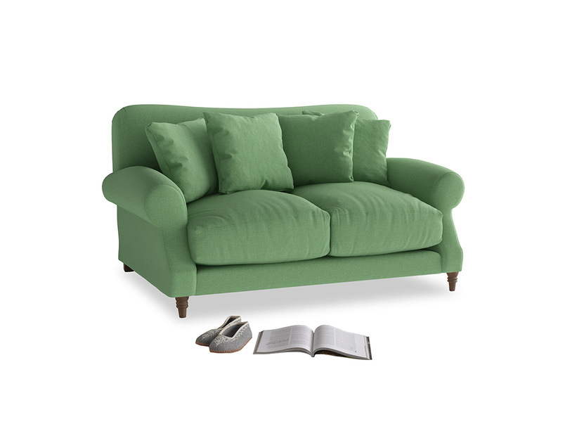 Small Crumpet Sofa in Clean green Brushed Cotton