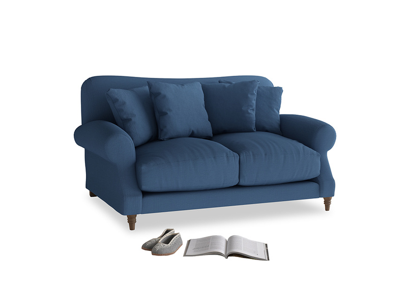 Small Crumpet Sofa in True blue Clever Linen