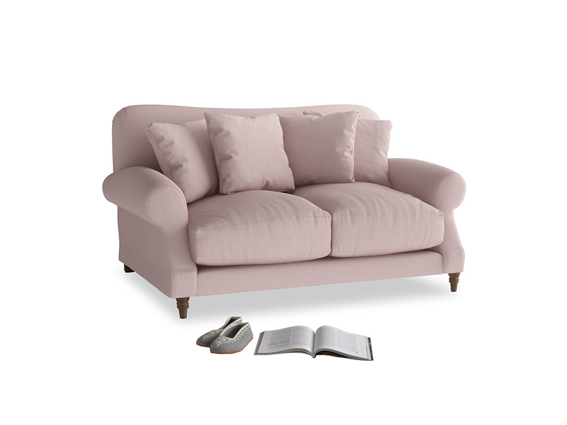Small Crumpet Sofa in Potter's pink Clever Linen