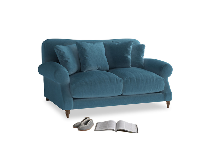 Small Crumpet Sofa in Old blue Clever Deep Velvet