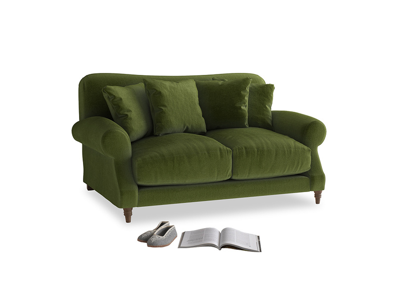 Small Crumpet Sofa in Good green Clever Deep Velvet