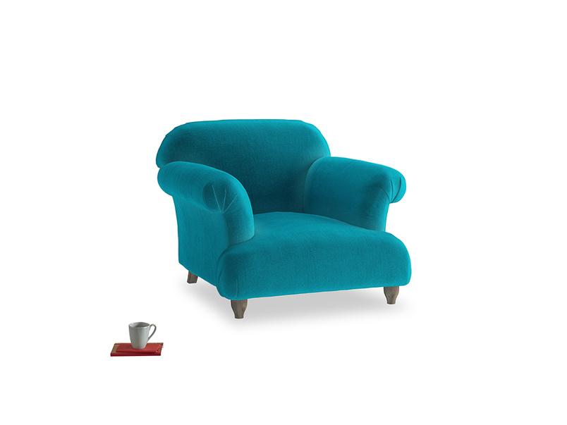 Soufflé Armchair in Pacific Clever Velvet
