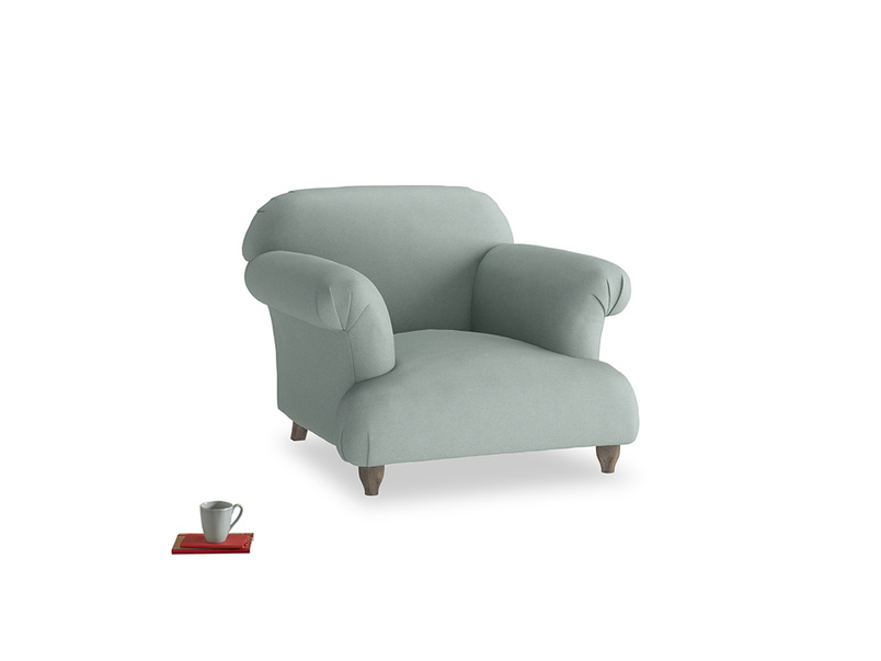 Soufflé Armchair in Sea fog Clever Woolly Fabric