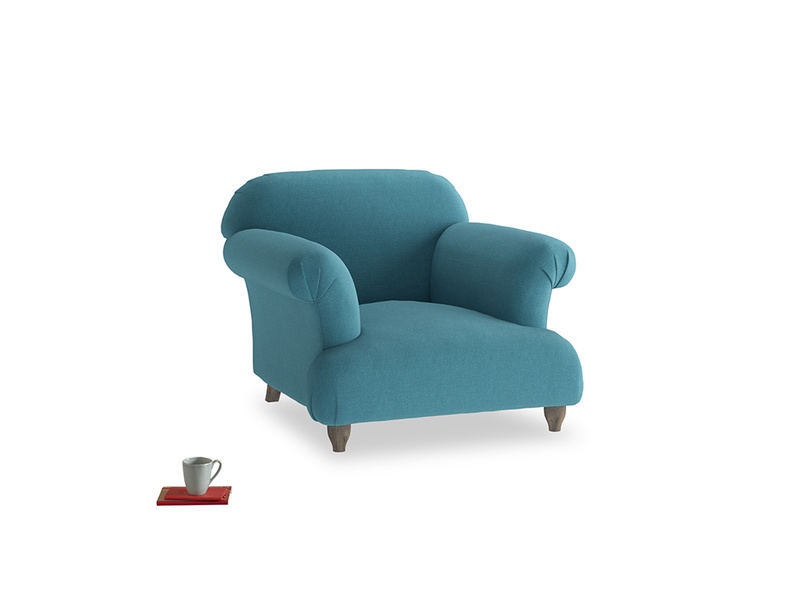 Soufflé Armchair in Lido Brushed Cotton