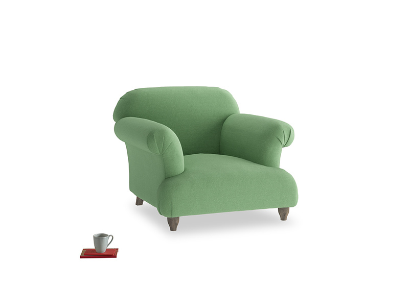 Soufflé Armchair in Clean green Brushed Cotton