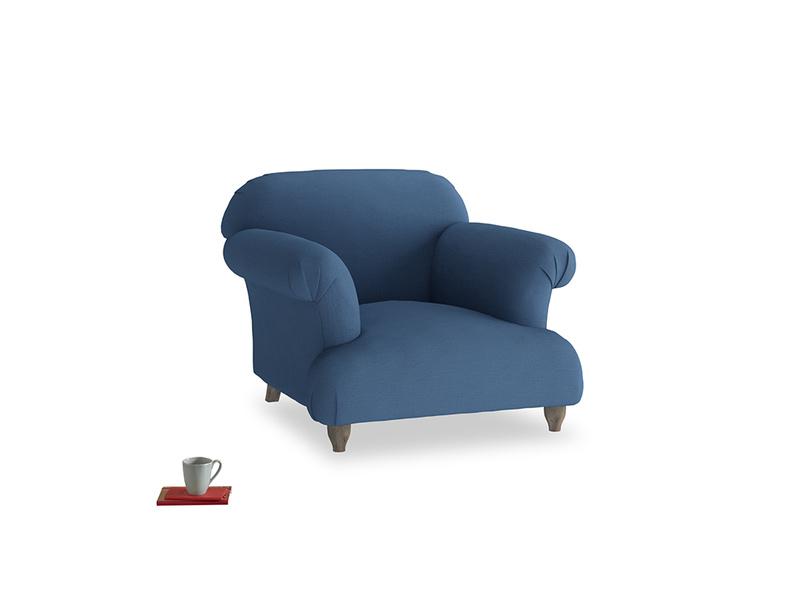 Soufflé Armchair in True blue Clever Linen