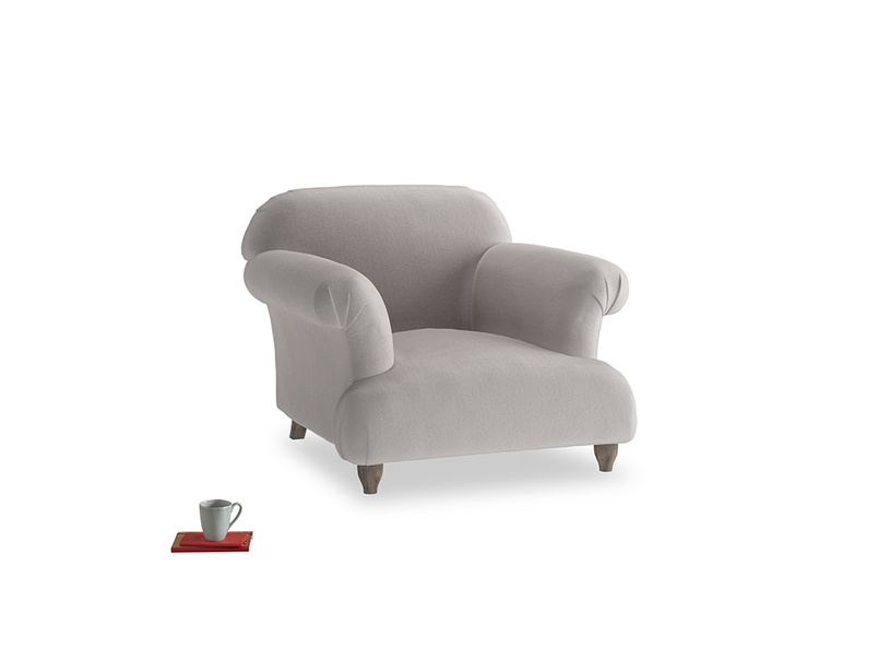 Soufflé Armchair in Mouse grey Clever Deep Velvet