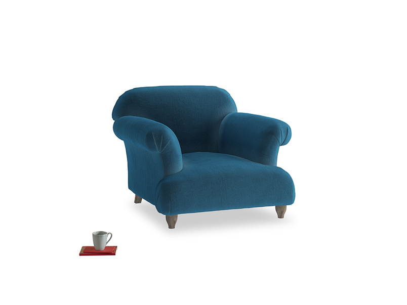 Soufflé Armchair in Twilight blue Clever Deep Velvet