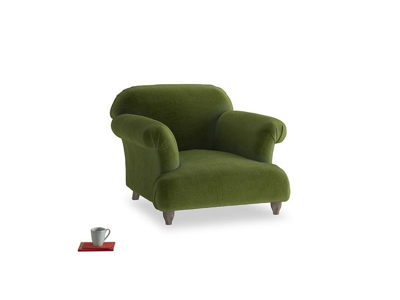 Soufflé Armchair in Good green Clever Deep Velvet