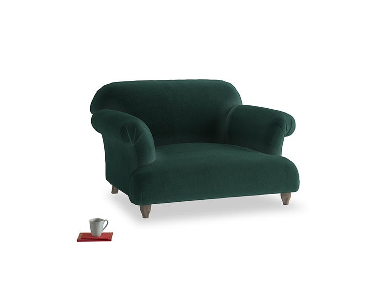 Soufflé Love seat in Dark green Clever Velvet