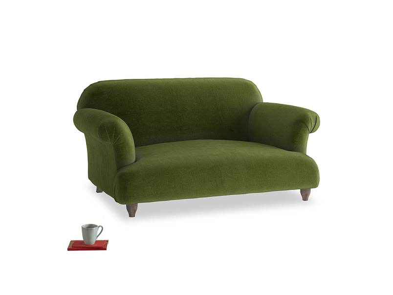Small Soufflé Sofa in Good green Clever Deep Velvet