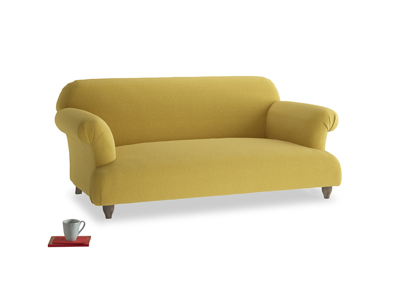 Medium Soufflé Sofa in Maize yellow Brushed Cotton
